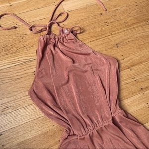 Ruched Halter Midi Dress